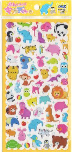 Animal stickers with a hedgehog