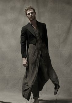 """molly-peters: """" Photographer: Jake Merrill Model: David Axell (Click) Stylists: Molly Peters and Marcus Allen Art Direction: Molly Peters and Marcus Allen """" Quirky Fashion, Dark Fashion, Love Fashion, Fashion Design, Gothic Fashion, Rick Owens, Indian Men Fashion, Mens Fashion, Mode Sombre"""