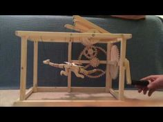 My first automaton in a couple of years. A gift for one of my amazing nieces. Best Mouse Trap, Origami, Kinetic Art, Plastic Art, Hobbies And Crafts, Diy For Kids, Wood Art, Wooden Toys, Kids Toys