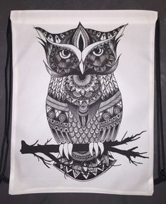 Owl Zentangle Shoulder Bag - I think I just found my new favorite online shop? Oh god no...