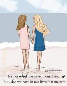 Best Friends It's Not What We Have But by RoseHillDesignStudio