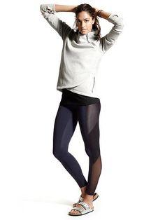 Looks We Love: Yoga/Studio: Cozy Karma Pullover Sweatshirt, High Rise Mesh Tux Chaturanga™ Tight