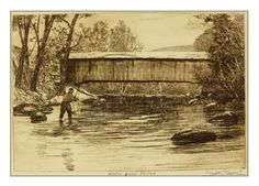 etching by Brett J Smith www.brettsmith.com Country Cabin Decor, Rustic Decor, Fishing Trips, Fly Fishing, North Branch, Art Ideas, Decor Ideas, Gifts For Hunters, Etchings