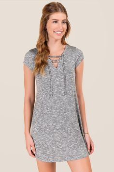 Danika Lattice Neck Knit Dress