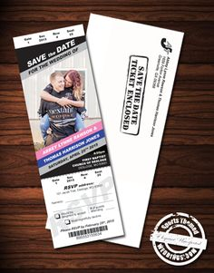 NASCAR Themed VIP Pit Pass Save the Date Magnets custom designed by one of our supremely talented staff.  Under $2.00 each!   #NASCARwedding  #stwdotcom