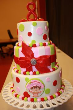 Strawberry Shortcake Cake 2 by Designer Cakes By April, via Flickr
