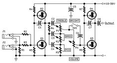 The objective here is to build a portable guitar preamp that I can carry around and gig with different people. It can also replace the preamp section of my guitar. Diy Guitar Amp, Diy Guitar Pedal, Guitar Pedals, Amp Settings, Fender Bass Guitar, Electronic Circuit Design, Simple Circuit, Electronic Schematics, Bass Amps
