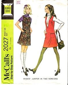 McCall's 2027 Misses Jumper in Two Styles Vintage Sewing Pattern Check Offers for Size McCall's Vintage Sewing Patterns, 1960s, Jumper, Style, Jumpers, Sweater