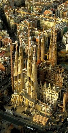 La Sagrada Familia ~ ...and still not finished being built after all these years. The monuments which adorn the building are tremendous.