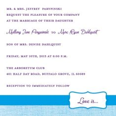 Square Wedding Invitations  #wedding