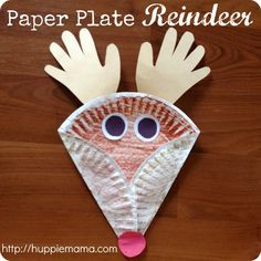 Christmas reindeer crafts | Christmas Kids Craft: Paper Plate Reindeer