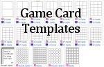 game card templates