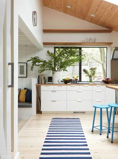 Modern farmhouse with a touch of mid century and boho. It's a bold, fun mix and match, stylish ...