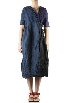 daniela gregis - four linen panels wide dress