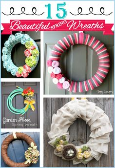 15 beautiful Spring Wreaths that you can make yourself.