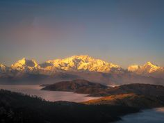 Mt. Kanchenjunga at sunset seen from Singalila ridge West Bengal India. [3556 x 2667] [OC] #reddit