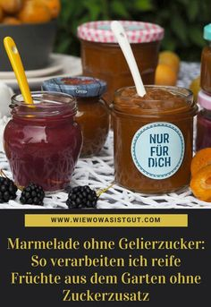 Jam without gelling sugar How To Make Dough, Food To Make, Baby Food Recipes, Vegan Recipes, Fermented Bread, Ripe Fruit, Canned Heat, Low Carb, Healthy Kids