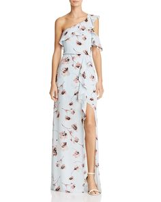 online shopping for BCBG Max Azria Womens Maud Floral Print One Shoulder Evening Dress from top store. See new offer for BCBG Max Azria Womens Maud Floral Print One Shoulder Evening Dress Evening Dresses Online, Evening Gowns, Dress Online, Nice Dresses, Casual Dresses, Blue Ball Gowns, Blue Gown, One Shoulder Gown, Max Azria