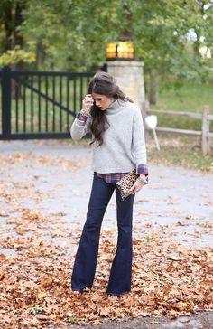 4 stijlvolle manieren om de flared jeans te dragen #mode #trend - Famme - Famme.nl