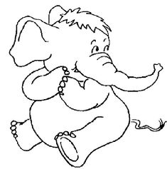 Coloring Page - Elephant coloring pages 7