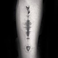 Arrow Soundwave Mens Inner Forearm Tattoo Design Inspiration