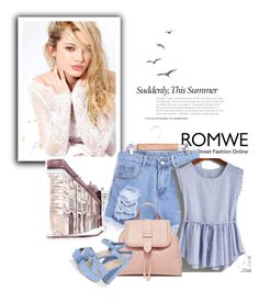 """""""Romwe"""" by milica-simovic ❤ liked on Polyvore featuring Silvana"""