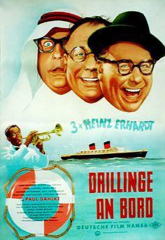 Poster zum Film: Drillinge an Bord. 1959