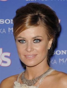 Vintage Side Swept Hairstyles | Carmen Electra's retro updo hairstyle at the US Weekly Hot Hollywood ...