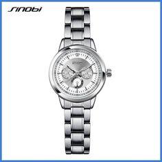 SINOBI Women's Bracelet Fashion Steel Wrist Watches Luxury Brand Geneva Quartz Clock Ladies Wristwatch Relojes Mujer Saatler #luxurymujer #wristwatches