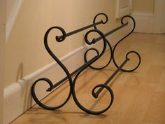 Wrought Iron Shoe Rack by RWIRONWORK on Etsy, £34.99