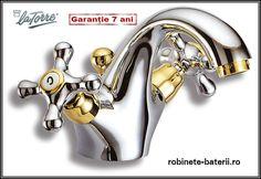Baterie lavoar Clasic LaTorre culoare crom-auriu Garlic Press