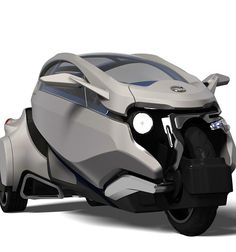 Design Team: Julio Engelke and Sergio Guillen Tricycle Bike, Trike Motorcycle, Futuristic Motorcycle, Futuristic Cars, Electric Trike, Electric Cars, Moto Car, Microcar, Concept Motorcycles