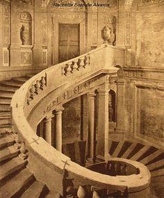 1940 ca Caprarola Palazzo Farnese la scala del Vignola Foto Anderson