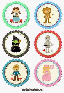 milleideeperunafesta: Mago di OZ: cupcake toppers da stampare
