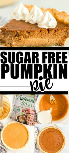 This perfect pumpkin pie recipe is the best easy, delicious, homemade classic dessert to make your family this Thanksgiving -- and it's sugar free thanks to Splenda Stevia No Calorie Sweetener! This old fashioned holiday favorite offers a world-famous Sugar Free Pumpkin Pie, No Bake Pumpkin Pie, Easy Pumpkin Pie, Vegan Pumpkin Pie, Homemade Pumpkin Pie, Pumpkin Pie Recipes, Baked Pumpkin, Pumpkin Dessert, Pumpkin Pie Fillings