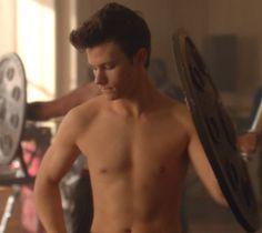 shirtless Chris colfer