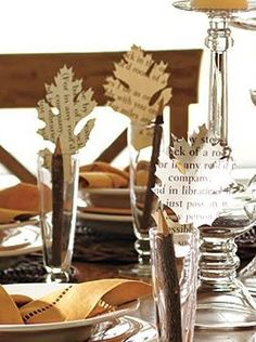 Book page placecards