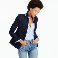 Regent blazer in linen : Women regent | J.Crew