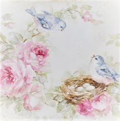Images Vintage, Vintage Artwork, Decoupage Vintage, Decoupage Paper, Stencil Decor, Shabby Flowers, Romantic Roses, China Painting, Art Floral