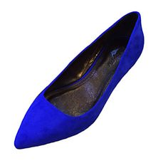 Leather Women's Low Heel Pointed Toe Pumps/Heels Shoes(More Colors) – USD $ 89.99