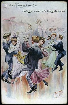 Old Postcard 1907 - Arthur Thiele - In der Tanzstunde - The Dance Lesson - La Leçon de danse - | par Patriotic-WWI