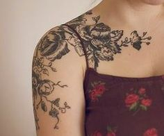 Shoulder tattoo...