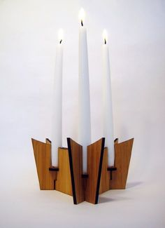 Bamboo Candle Holder - Tri $55