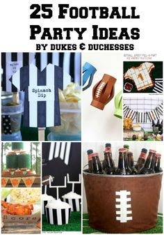 Super Bowl Sunday is just around the corner! Are you hosting a party? Attending a party? Check out the ULTIMATE Super Bowl Party Guide! Football Draft Party, Football Tailgate, Football Snacks, Football Themes, Football Birthday, Boy Birthday, Football Season, Football Parties, Football Humor