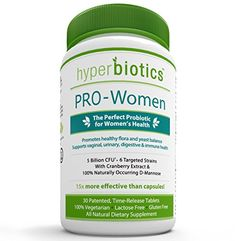 PRO-Women: Probiotics for Women with Cranberry Extract & 100% Naturally Occurring D-Mannose - 15x More Effective than Capsules with Patented Delivery Technology - 30 Once Daily Time Release Tablets