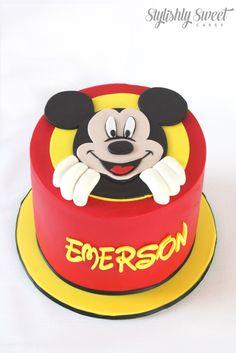 Mickey Mouse peek a boo cake www.stylishlysweet.com.au