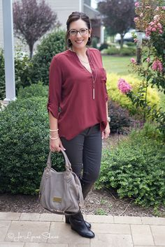Fashion Over 40: How to Style the LUSH Roll-Tab Sleeve Tunic