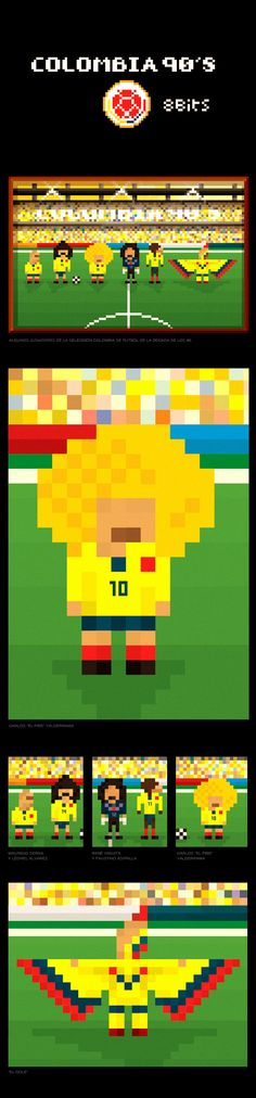 Colombia 90's Fútbol / 8 bits on Behance