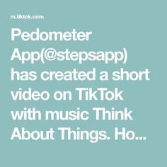 Pedometer App( has created a short video on TikTok with music Think About Things. Home office workout made easy. Office Exercise, At Home Workouts, Make It Simple, App, Motivation, Music, Musica, Musik, Apps
