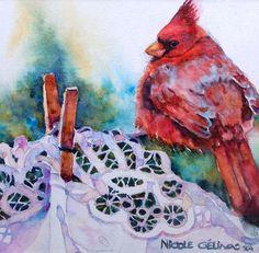 Rouge cardinal by Nicole Gelinas